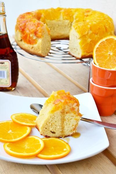ciambella all'arancia con sciroppo d'acero