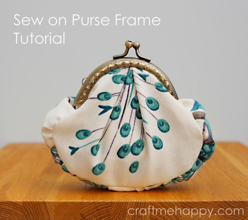 Frame Purse Tutorial | Craft me Happy!: Frame Purse Tutorial