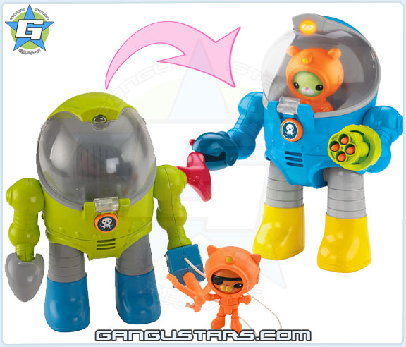 the Octonauts オクトノーツ Tweak's Octo Max Suit Fisher-Price toys トゥイーク