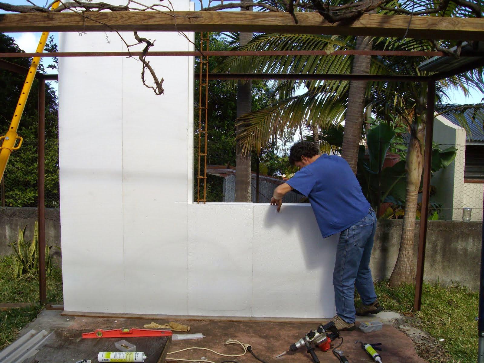 11- Mise en place du panneau d'allège de fenêtre