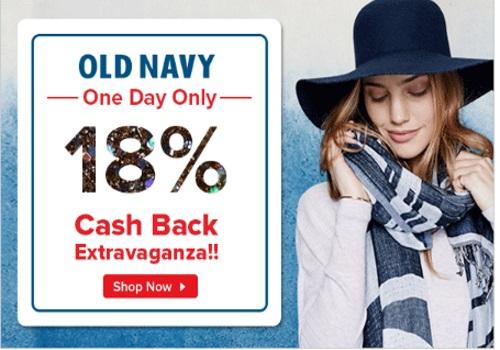 Ebates Old Navy 18% Cashback