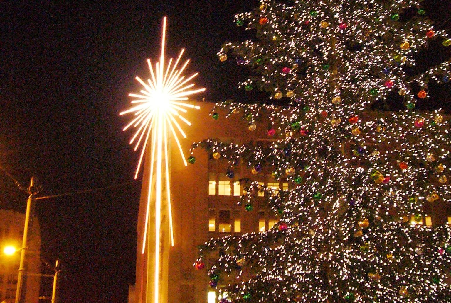 Christmas Tree And Macy's Star