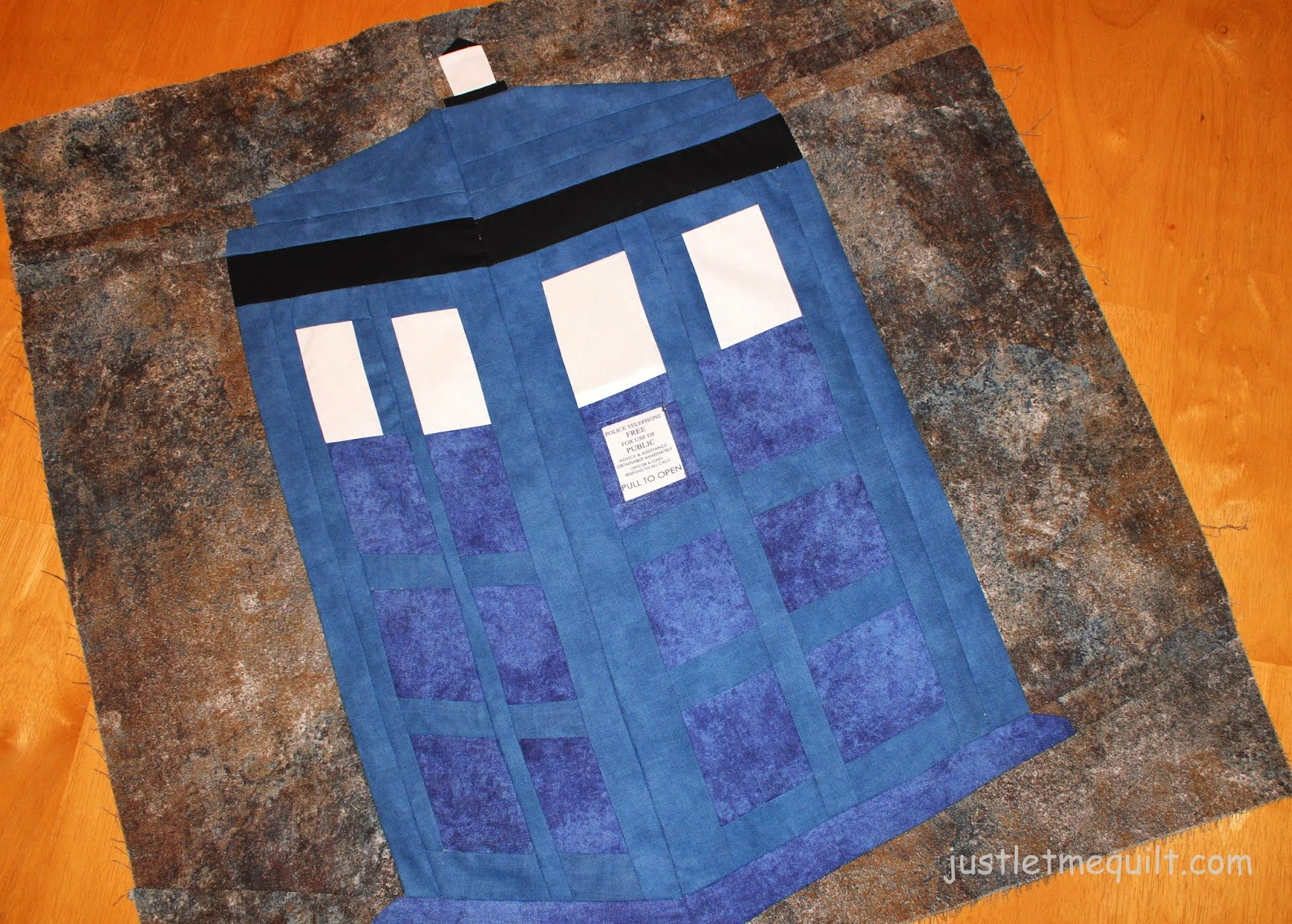 Just Let Me Quilt A Little Doctor Who Paper Piecing