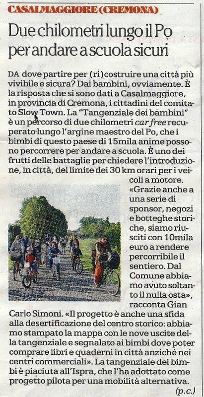 Articolo su La Repubblica