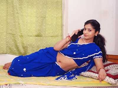 liya sree new blue saree hot images