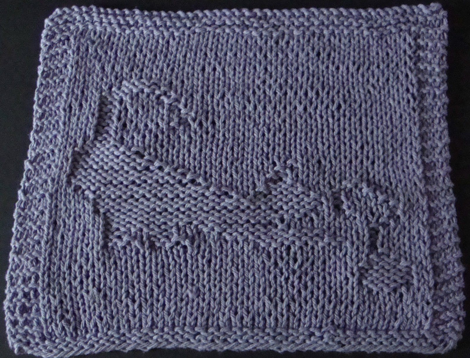 DigKnitty Designs: Cat with String Knit Dishcloth Pattern