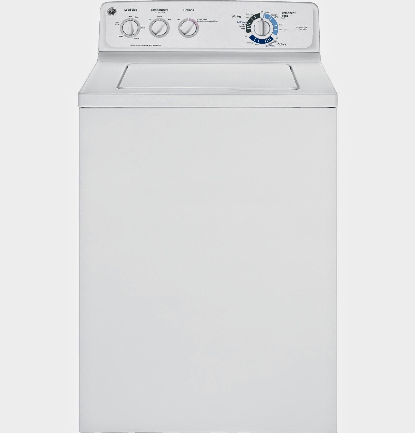 ge 39 cf white top load washer