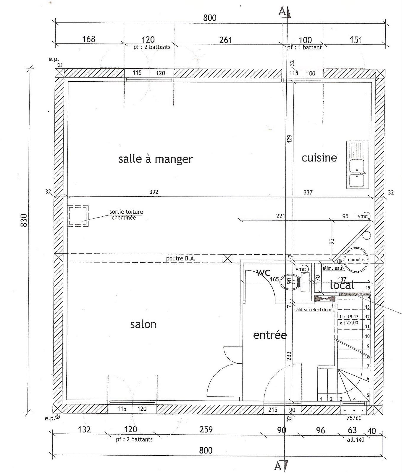 L 39 ile aux creations plan et implantation de la maison for Plan implantation maison