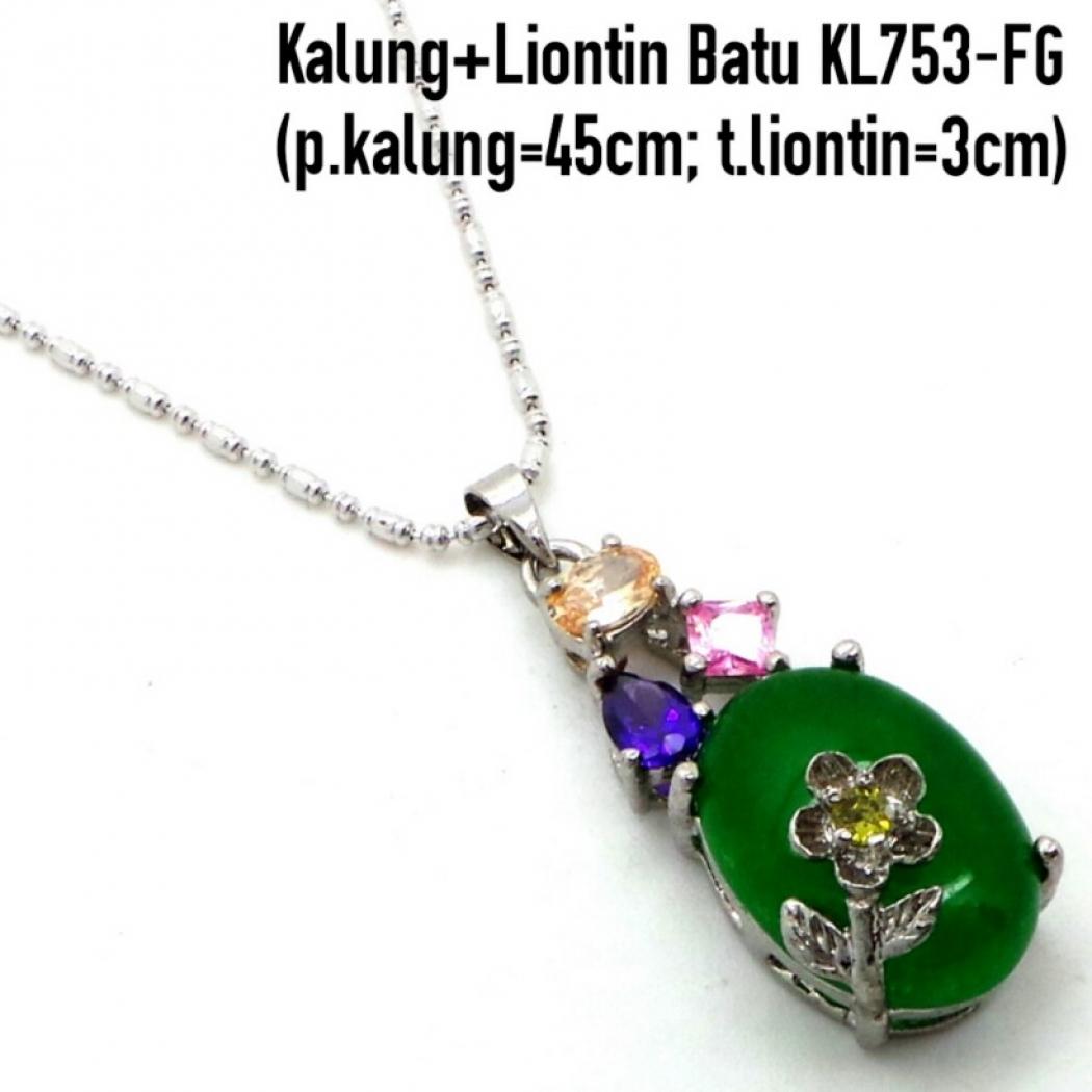 Aksesoris: Kalung Liontin Batu (AJP-010)