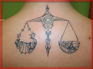 Zodiak Tattoos Gallery - Libra Tattoo