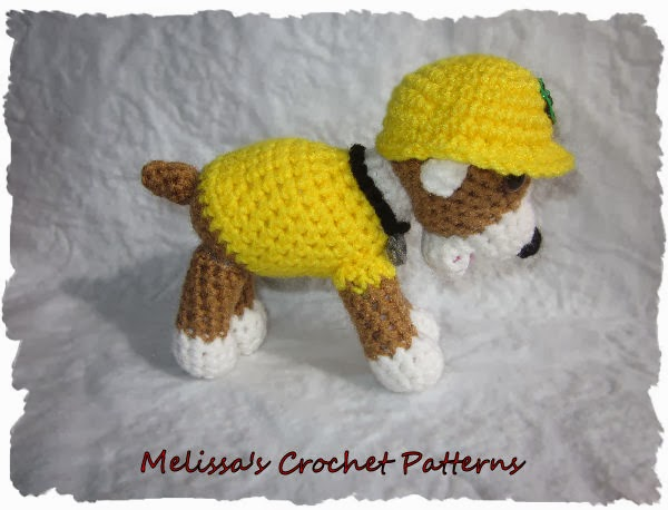 Crochet Patterns Paw Patrol : Melissas Crochet Patterns: Rubble from PAW Patrol Crochet Pattern