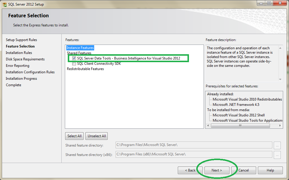 How to install Business Intelligence Development Studio (BIDS) on Visual Studio 2012 and Sql Server 2008 3
