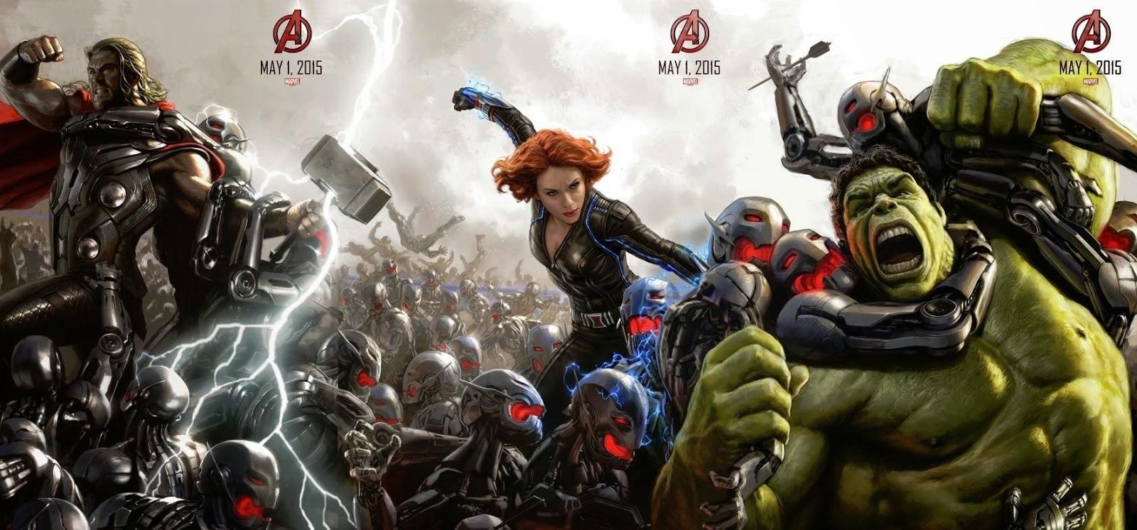 Punho da Hulkbuster, escudo do Capitão América quebrado e Ultron em imagens de Os Vingadores 2