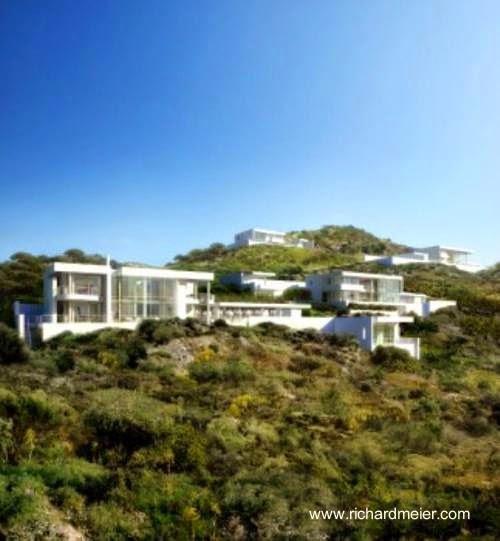 Renderizado de un proyecto de Richard Meier para construir 21 villas en Turquía