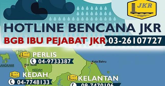 lebuhraya malaysia bilik gerakan bencana jkrTalian Hotline Bencana Jkr Terkini #19