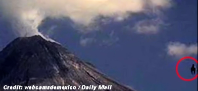 Volcano Cam Captures UFO During Eruption - January 2015