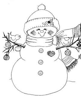 Riscos para pintura de bonecos de neve