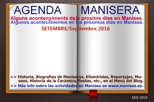 AGENDA MANISERA, SEMANA 39 DE 2016