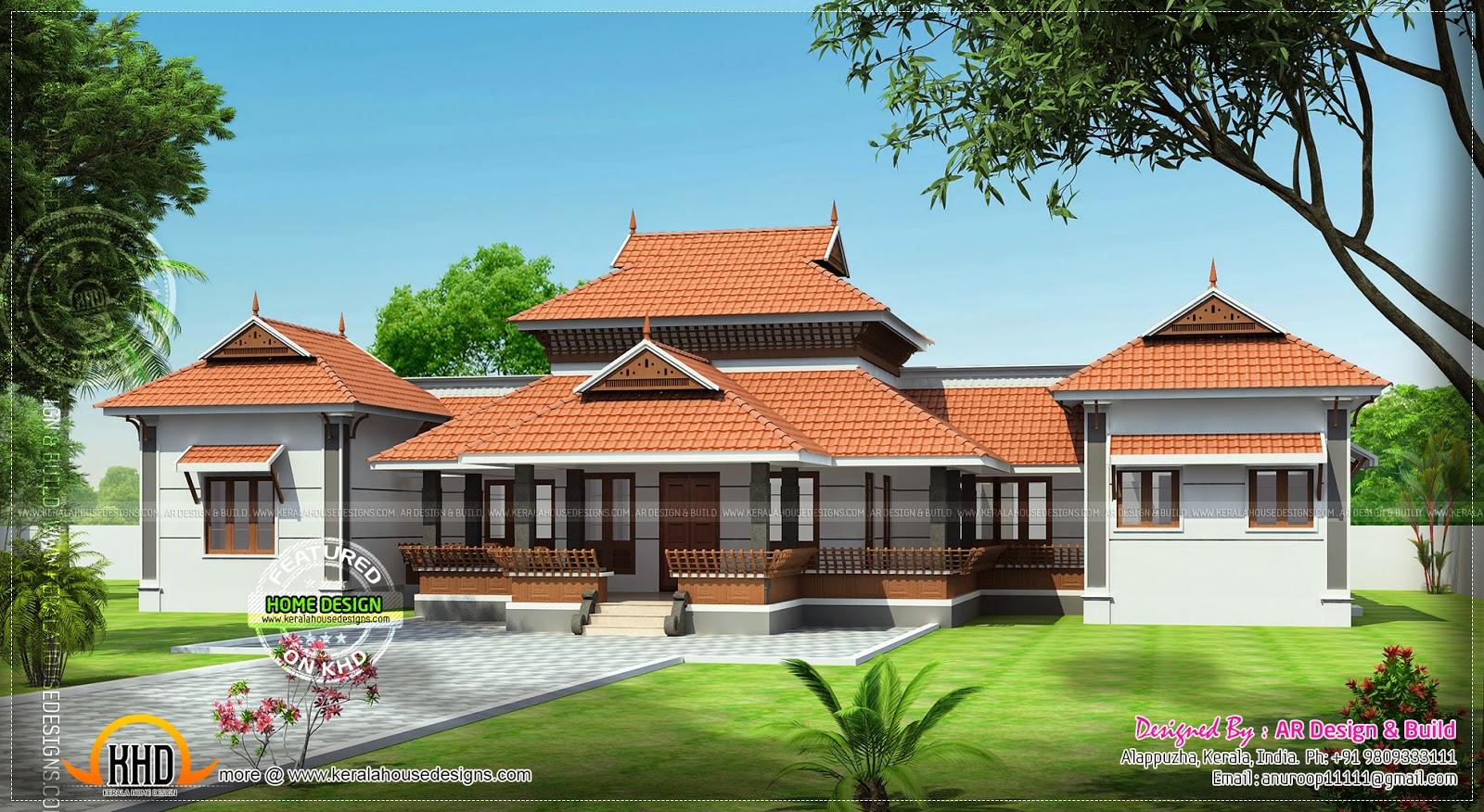 March 2014 kerala home design and floor plans for Veedu elevation