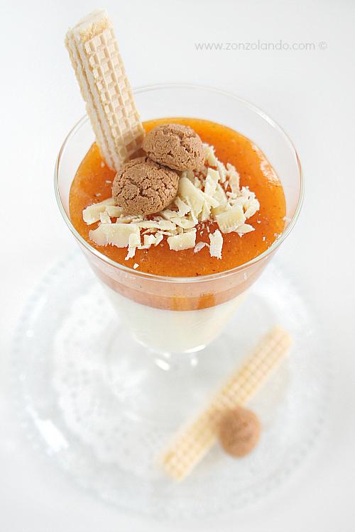 Panna cotta al cioccolato bianco e salsa di cachi ricetta - Persimmon panna cotta recipe