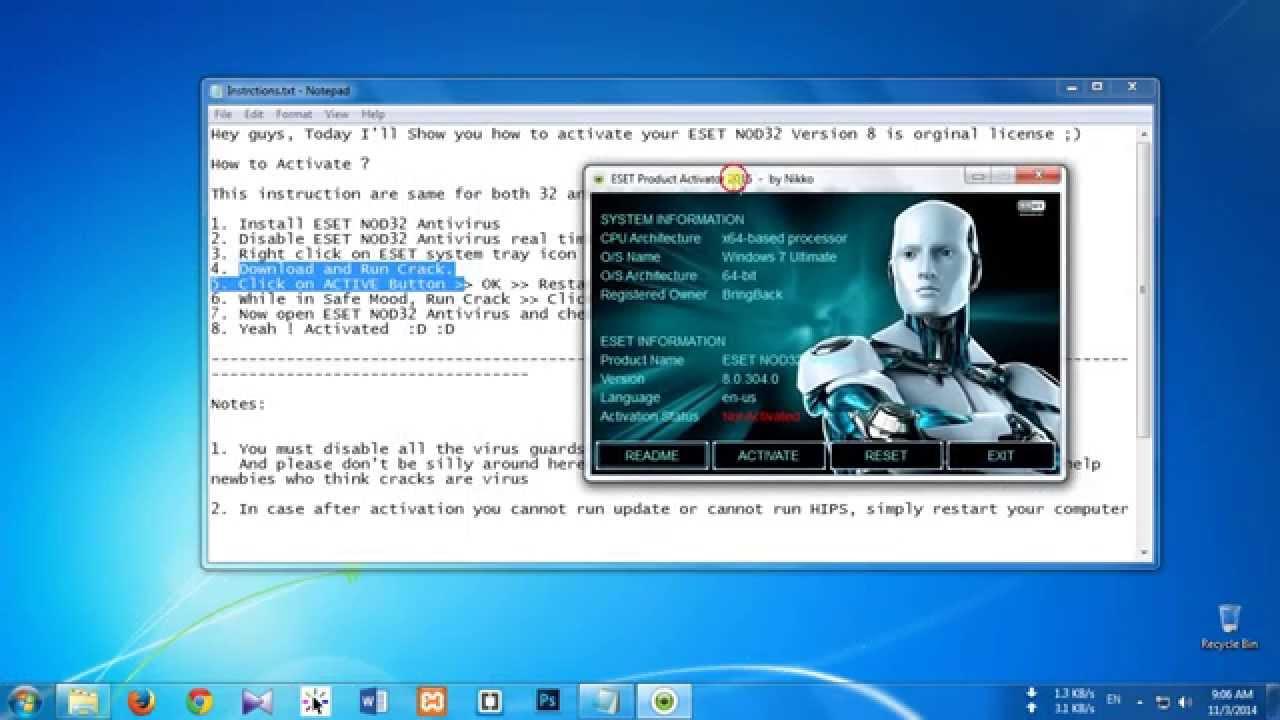key generator eset nod32 antivirus 9