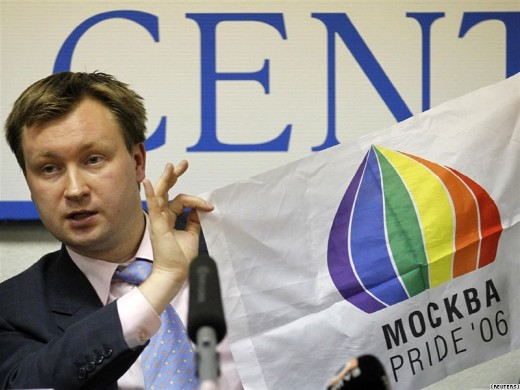Nikolai Alexeyev, a Russian gay rights activist was convicted on Friday of ...