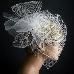 Birdcage Veil With Poof