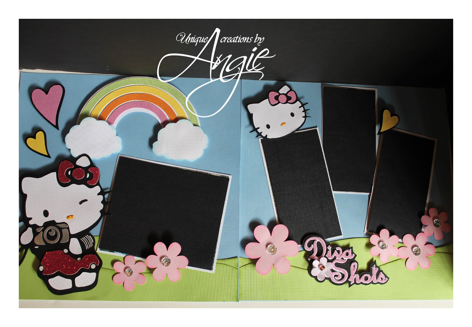 Scrapbook ideas hello kitty - Hello Kitty Scrapbook Layouts