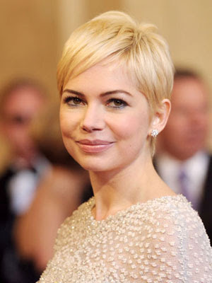 michelle williams short hair cannes. Michelle Williams debuted her