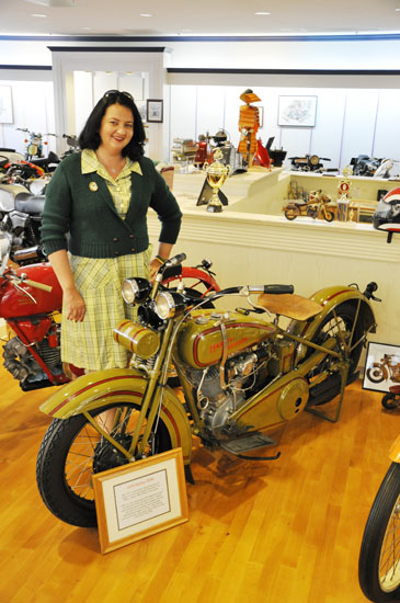 Solvang vintage motorcycle museum Harley by Lady by Choice