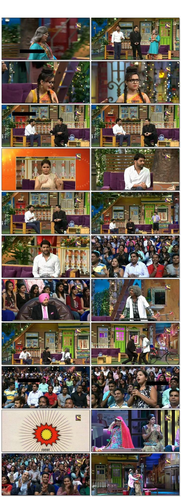 Screen Shot Of The Kapil Sharma Show 3rd December 2016 Episode 64 300MB Watch Online