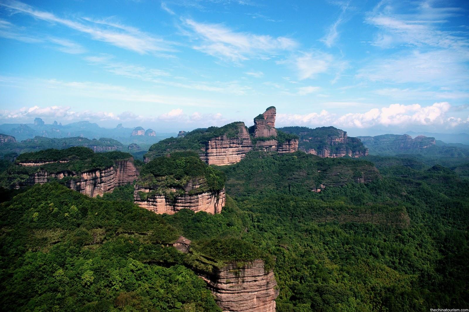 Mount Danxia in Shaoguan, Danxia Landform China