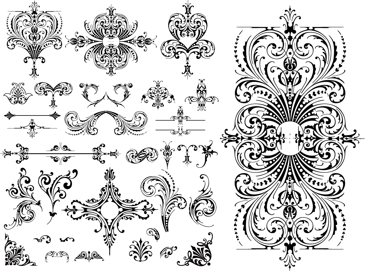 Variety of practical european style lace for Chocolate lace template