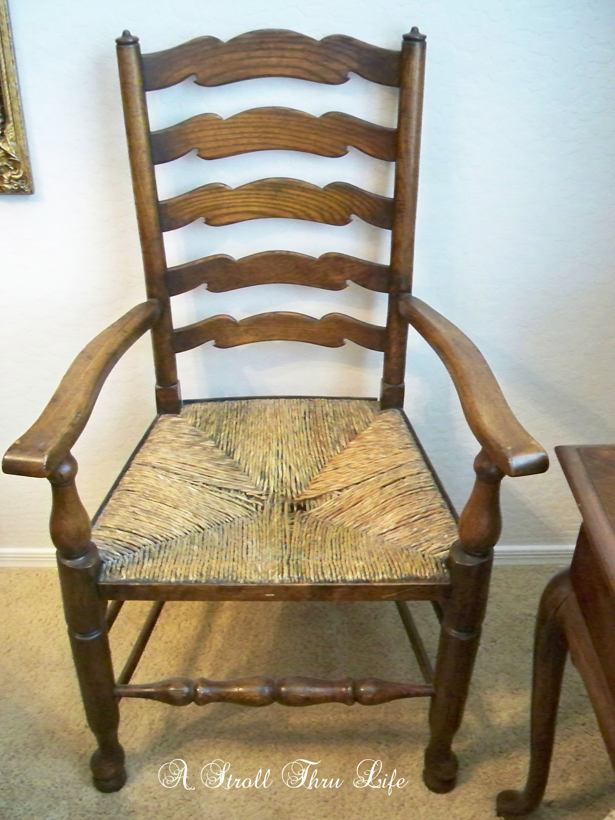 A Stroll Thru Life Replacing Rush Seats Upholstery Tutorial
