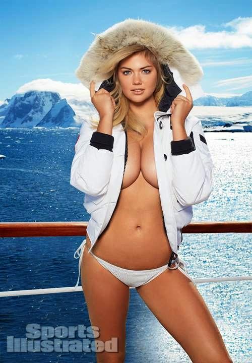Kate Upton contra el frio antártico