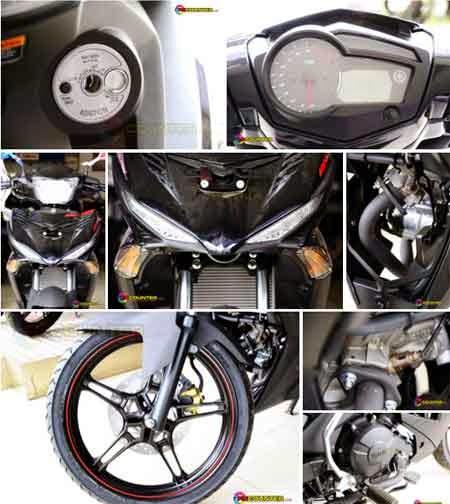 gambar Yamaha Jupiter MX King 150 Black Drift