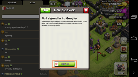 Trik Sign In COC 2 Akun