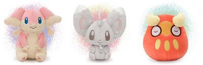 Pokemon Canvas Plush Audino Darumaka Minccino PokeCenJP