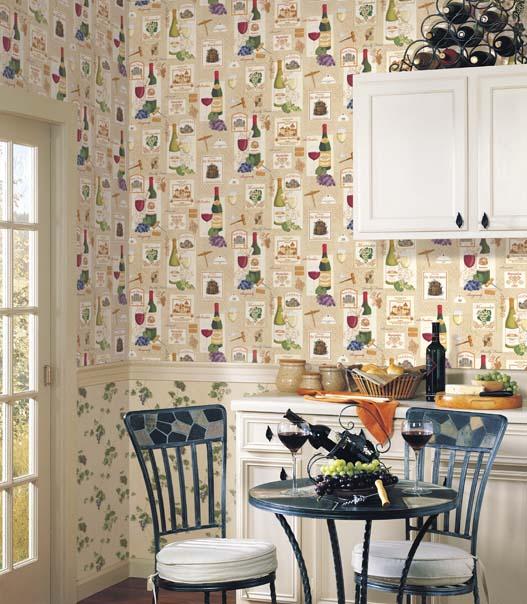 hoy os quiero dejar algunos ejemplo de lo bonita que puede estar nuestra cocina con un original papel pintado