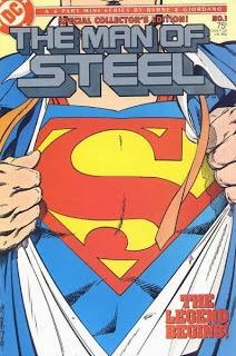 Portada del comic The Man of Steel (1986) por John Byrne