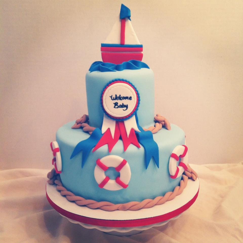 Cakes By Becky Nautical Baby Shower Cake