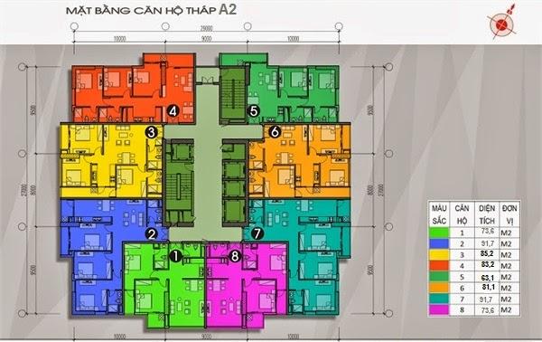 thiết kế chi tiết mặt bằng sàn căn hộ