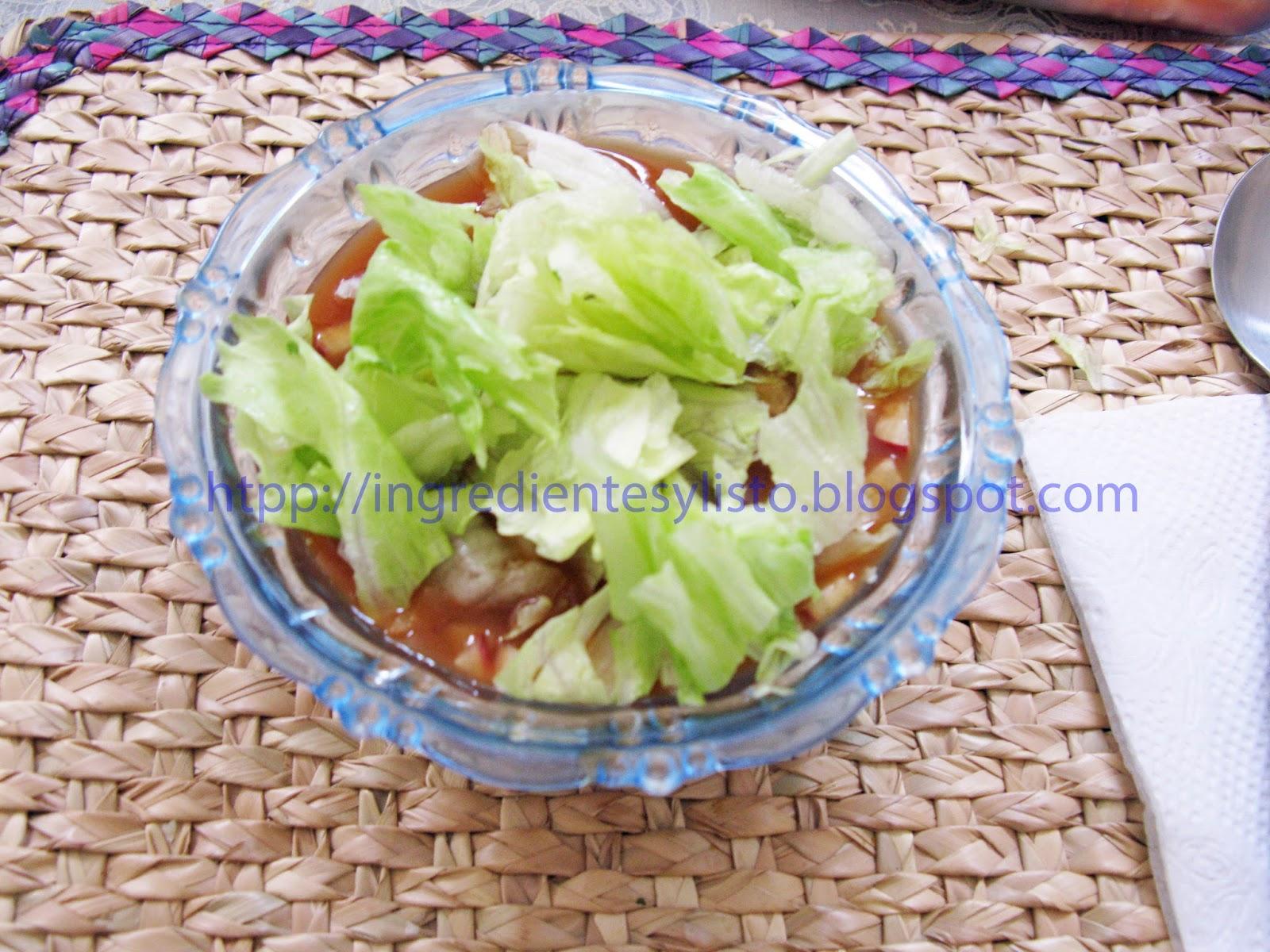 Ingredientes y listo coctel de camarones - Coctel de marisco ingredientes ...