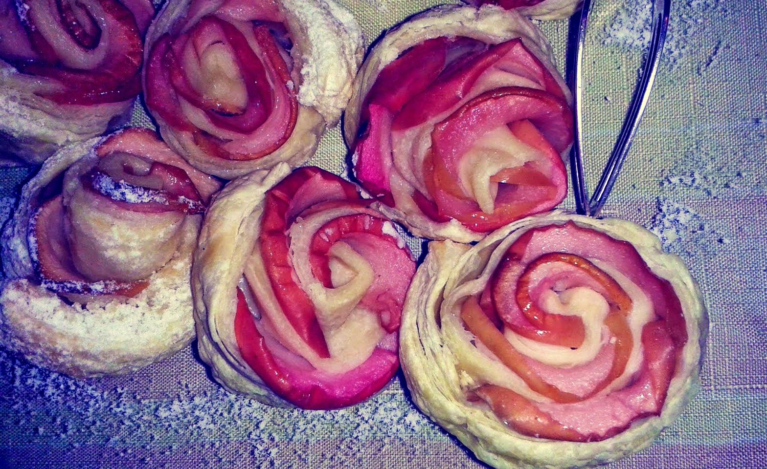 ciasto francuskie jabłka ciasteczka