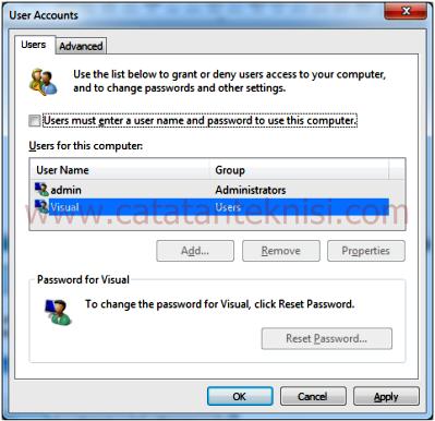 Auto Login Windows 7