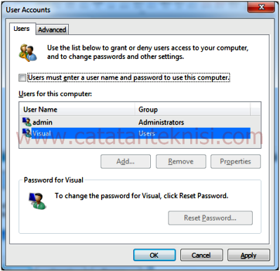 Auto Login Windows 7