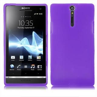 Silicon Case Untuk Sony Xperia S LT26i Sony Ericsson Xperia Arc HD Purple