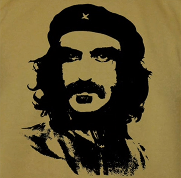 combination of Korda Che Guevara image with face of Frank Zappa