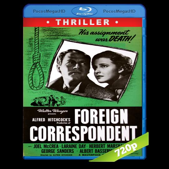 Foreign Correspondent (1940) BrRip 720p Inglés AC3+subs