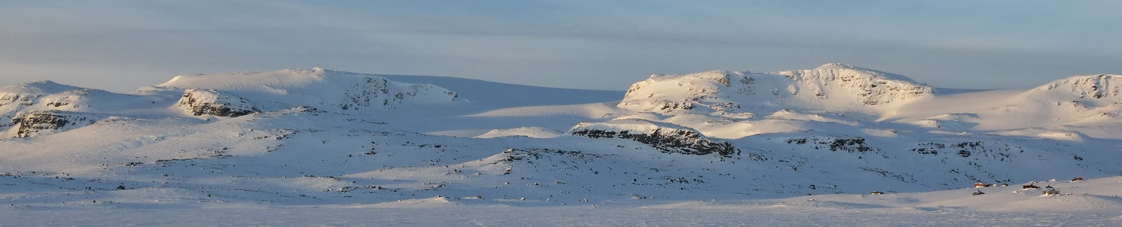 Panoramic view of Hardangerjokulen Finse